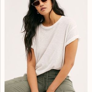 Free People We The Free white T-shirt small shirt